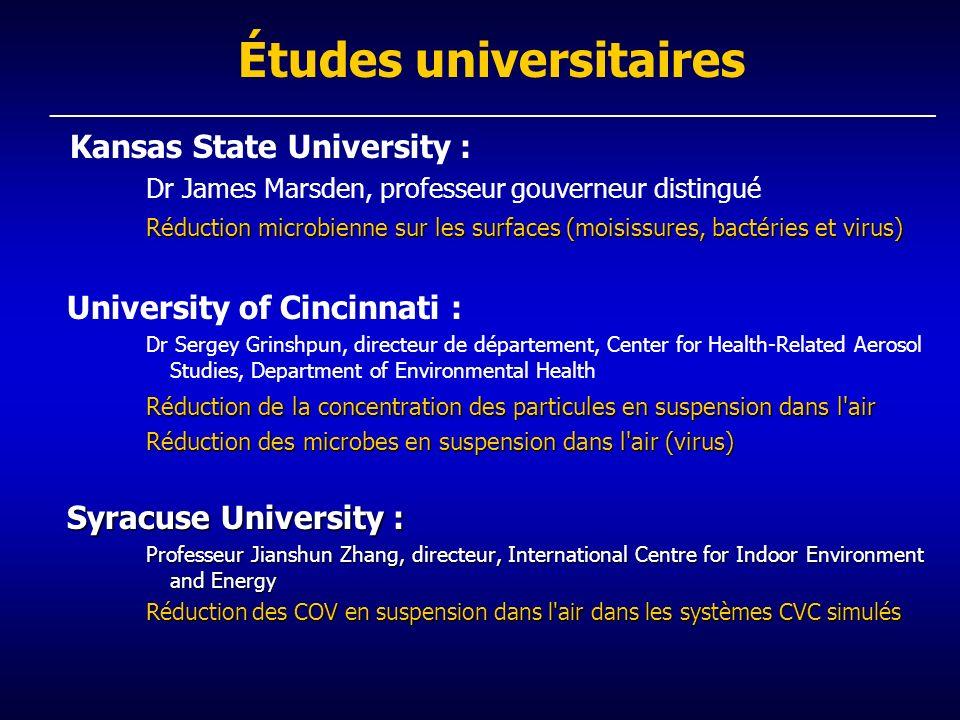 Études universitaires