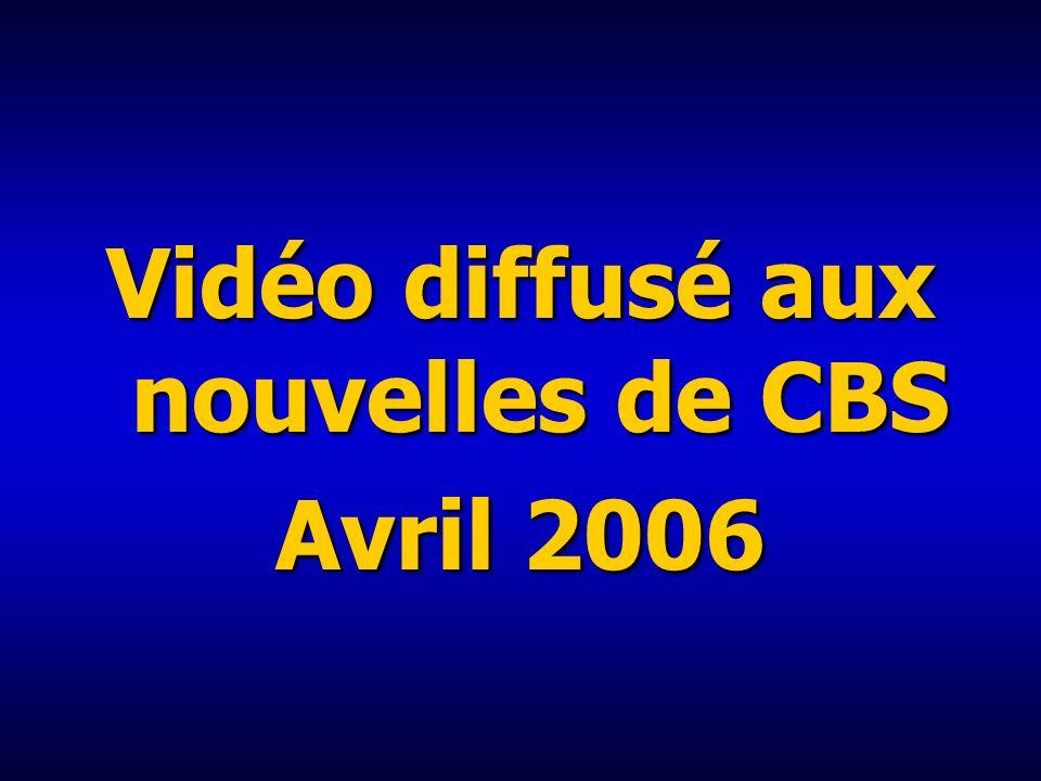 Vidéo diffusé aux nouvelles de CBS
