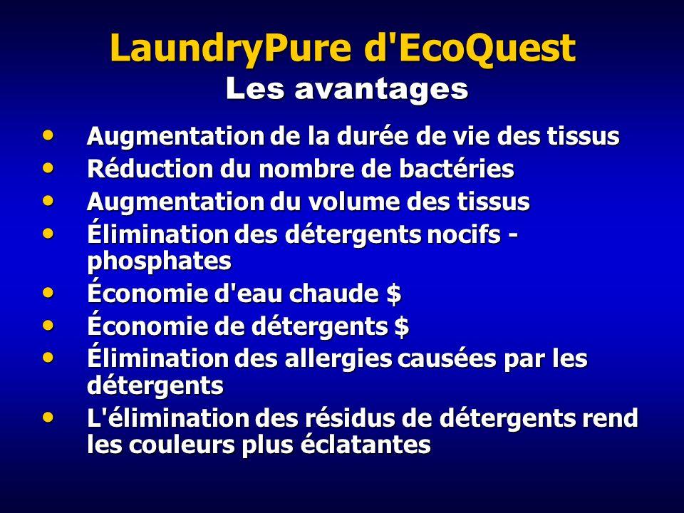 LaundryPure d EcoQuest Les avantages