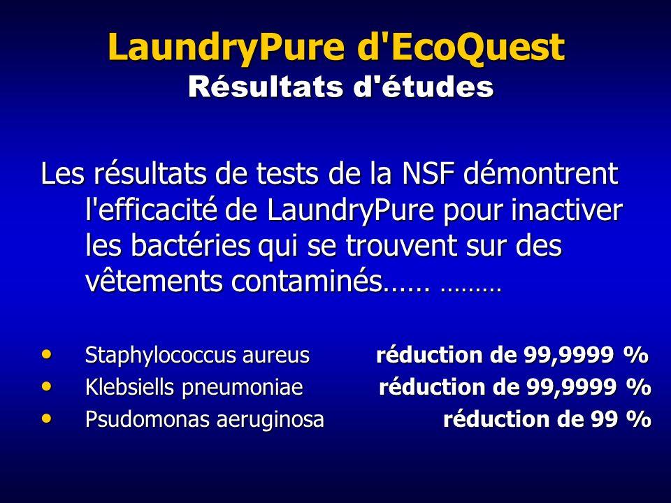 LaundryPure d EcoQuest Résultats d études