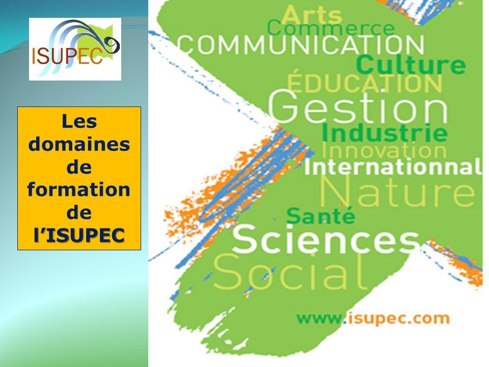 Les domaines de formation de l'ISUPEC