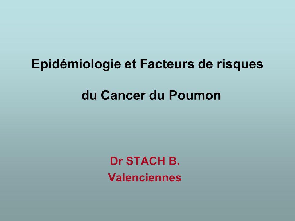 Epidémiologie et Facteurs de risques du Cancer du Poumon