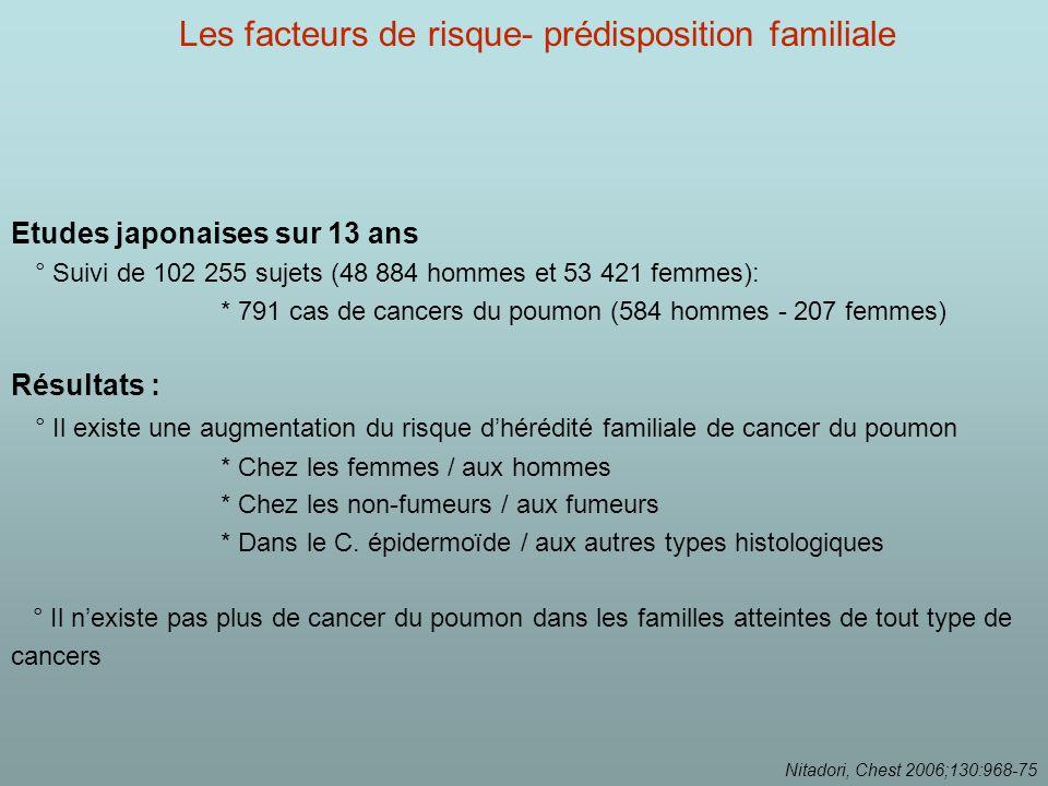 Les facteurs de risque- prédisposition familiale