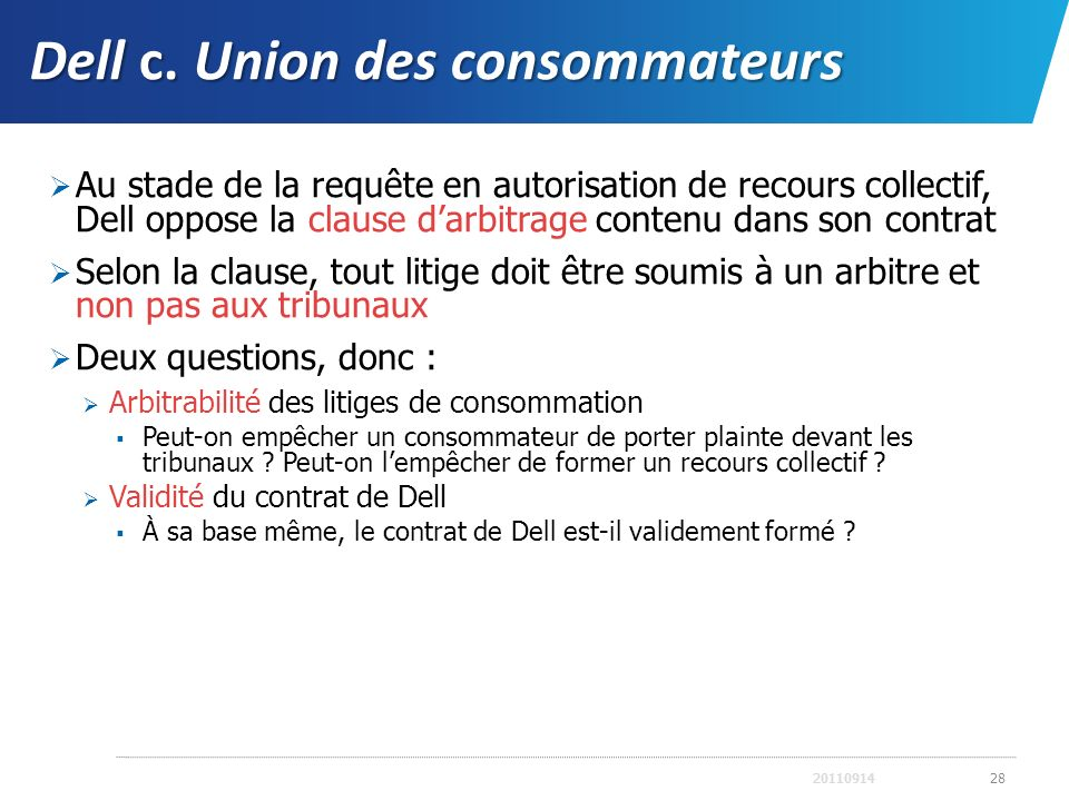 Dell c. Union des consommateurs