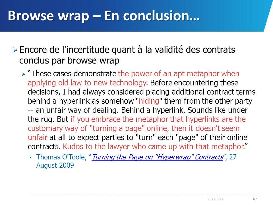 Browse wrap – En conclusion…