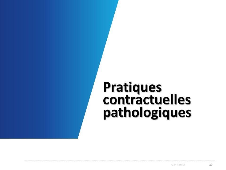 Pratiques contractuelles pathologiques
