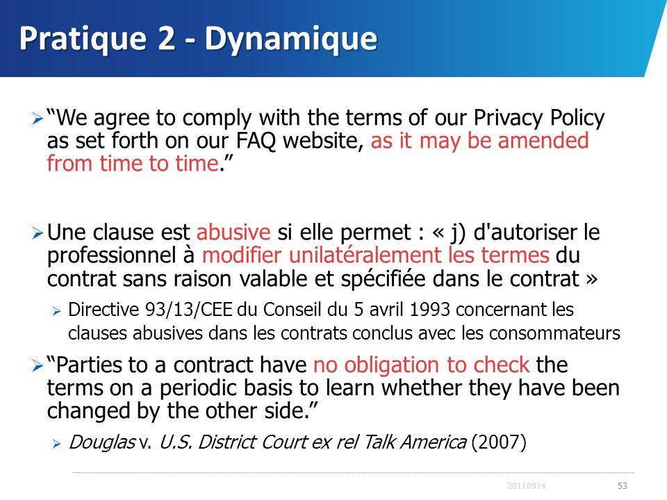 Pratique 2 - Dynamique