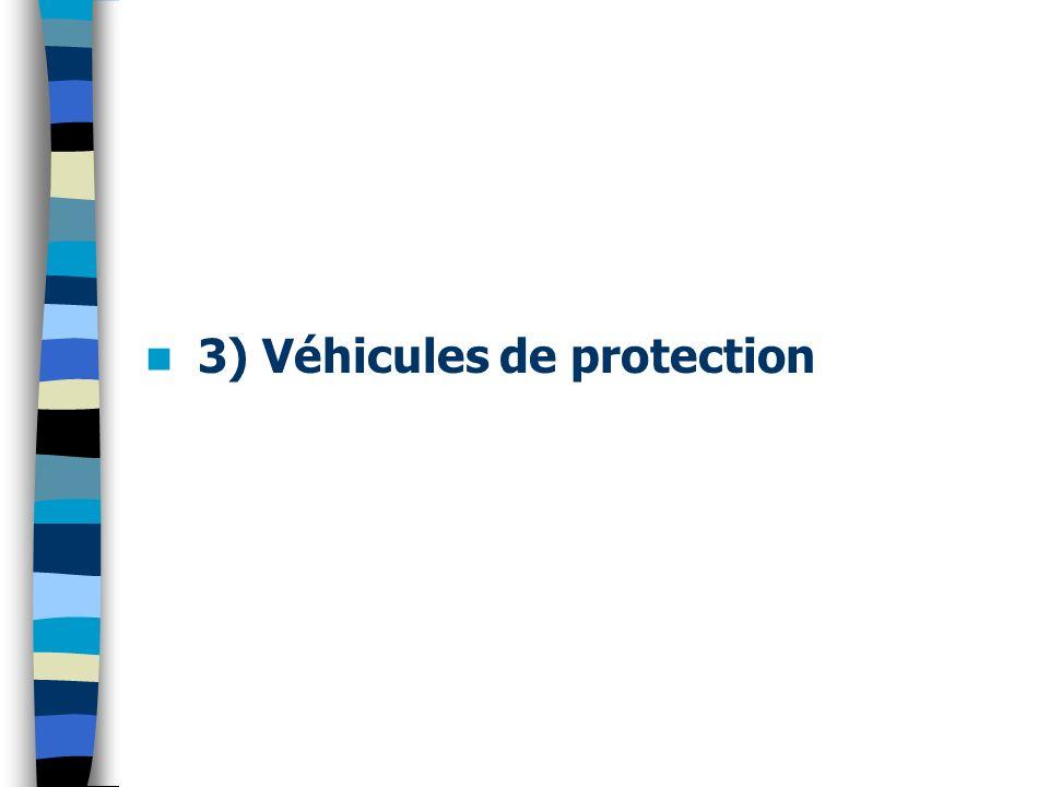 3) Véhicules de protection