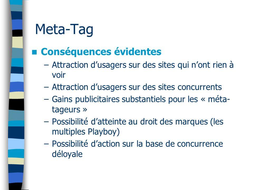 Meta-Tag Conséquences évidentes
