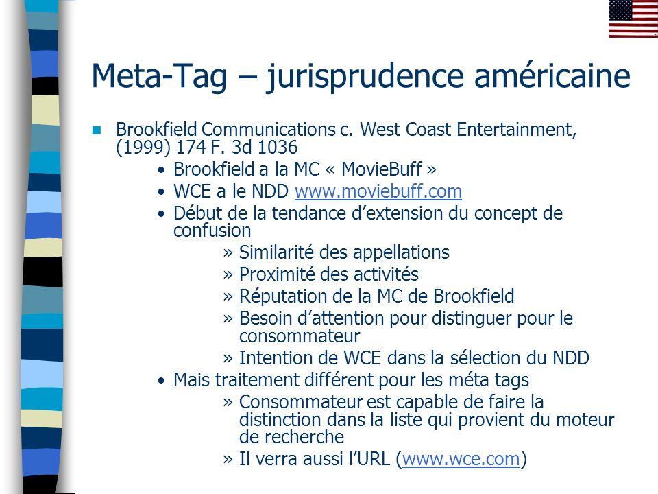 Meta-Tag – jurisprudence américaine