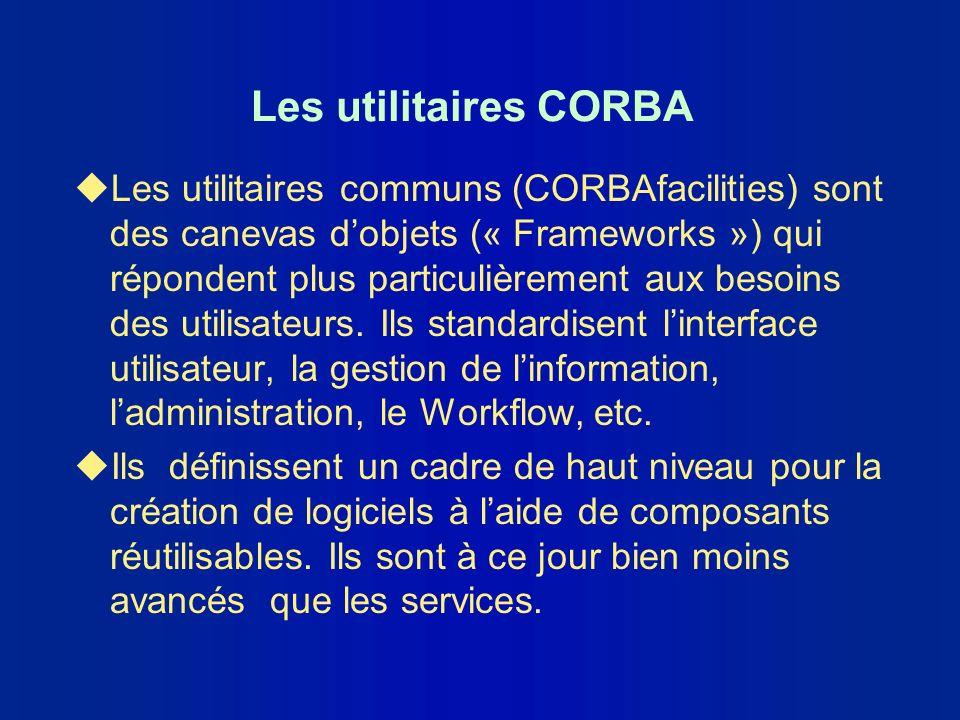Les utilitaires CORBA