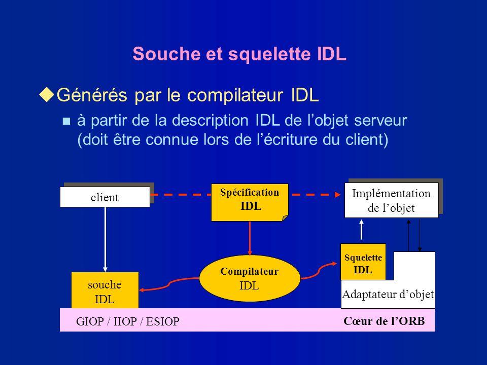 Souche et squelette IDL