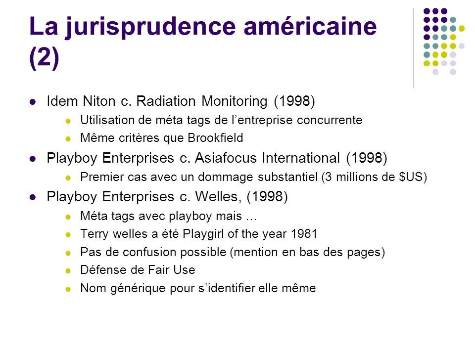 La jurisprudence américaine (2)