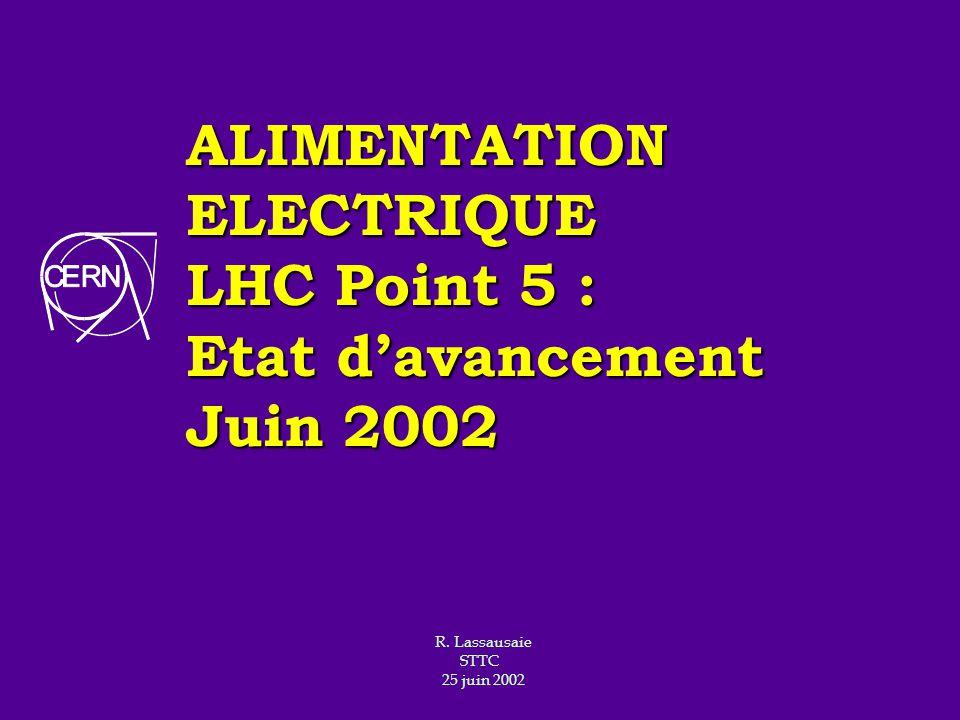 ALIMENTATION ELECTRIQUE LHC Point 5 : Etat d'avancement Juin 2002