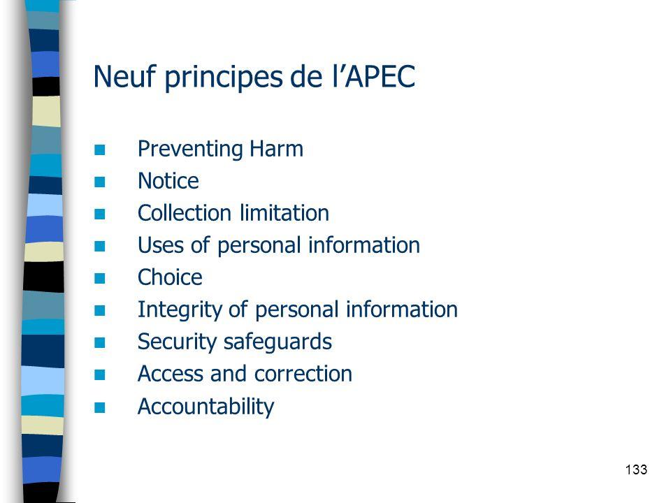 Neuf principes de l'APEC