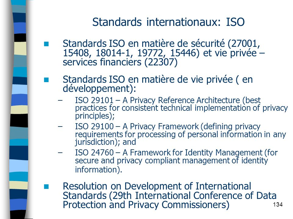 Standards internationaux: ISO