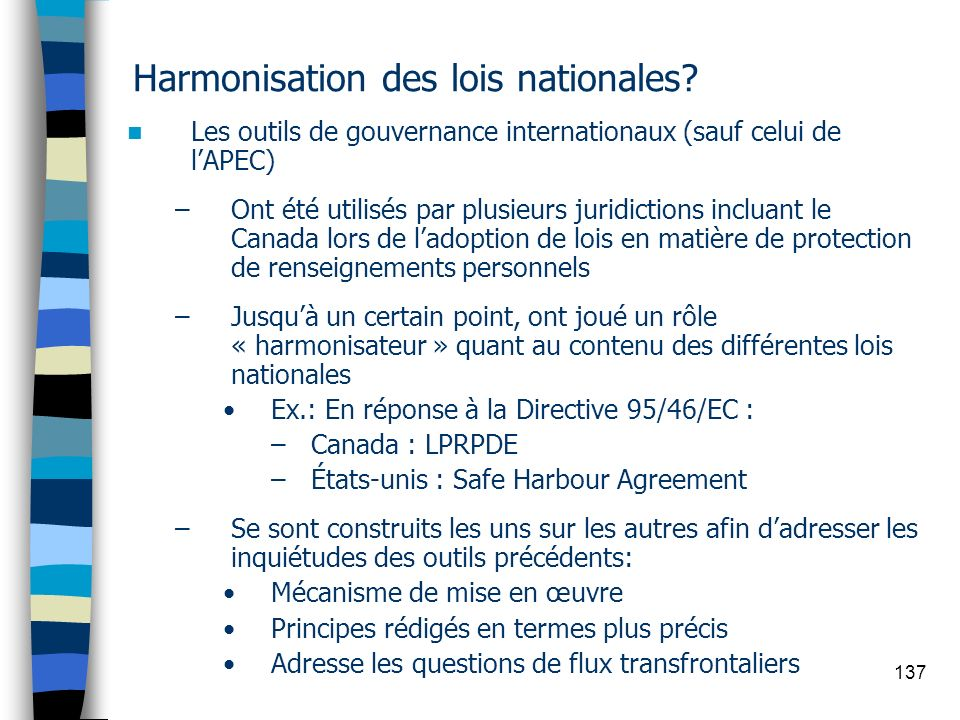 Harmonisation des lois nationales