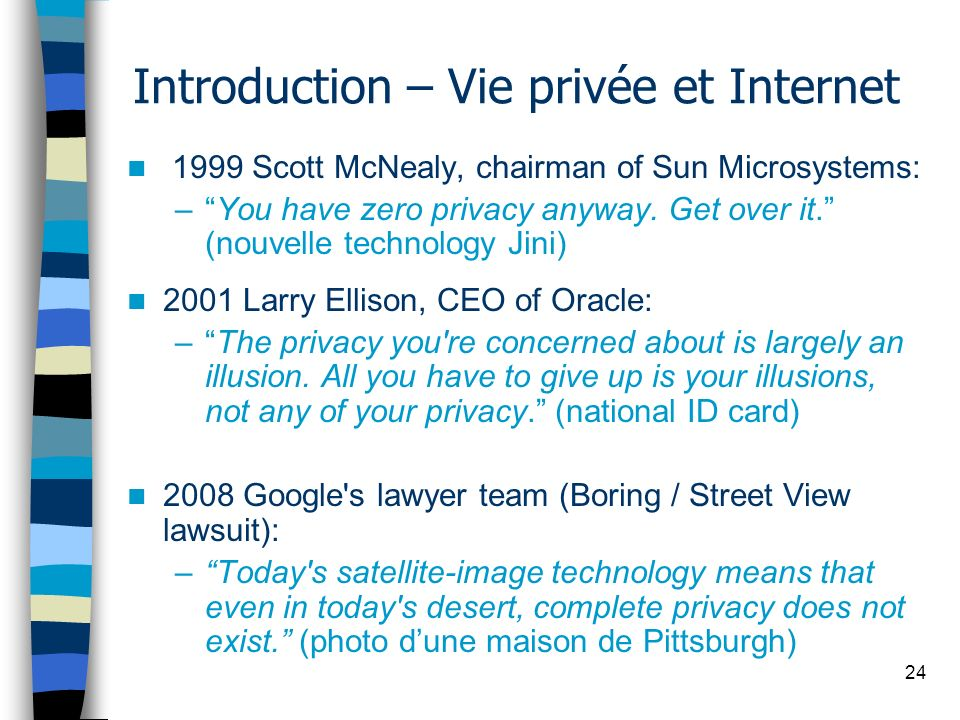 Introduction – Vie privée et Internet
