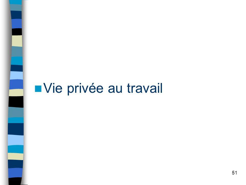 Vie privée au travail 51 51