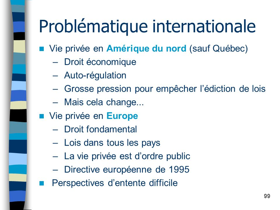 Problématique internationale