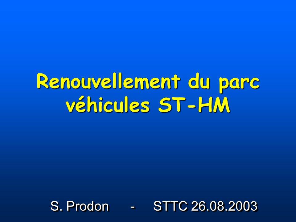 Renouvellement du parc véhicules ST-HM