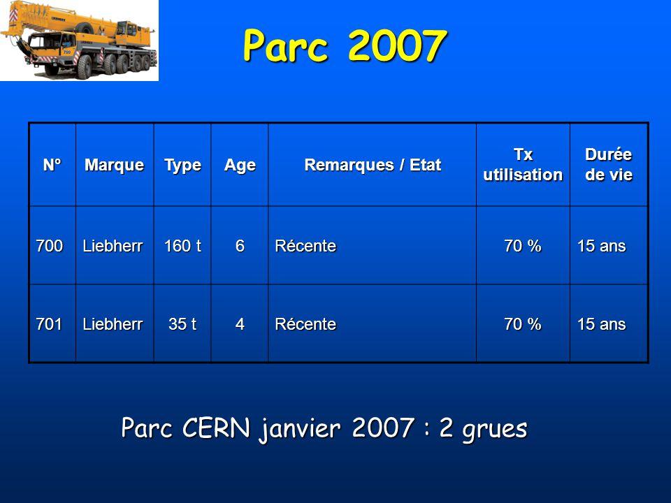 Parc CERN janvier 2007 : 2 grues