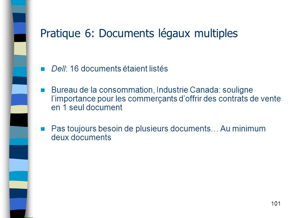 Pratique 6: Documents légaux multiples