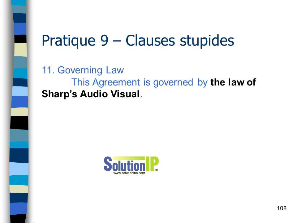 Pratique 9 – Clauses stupides