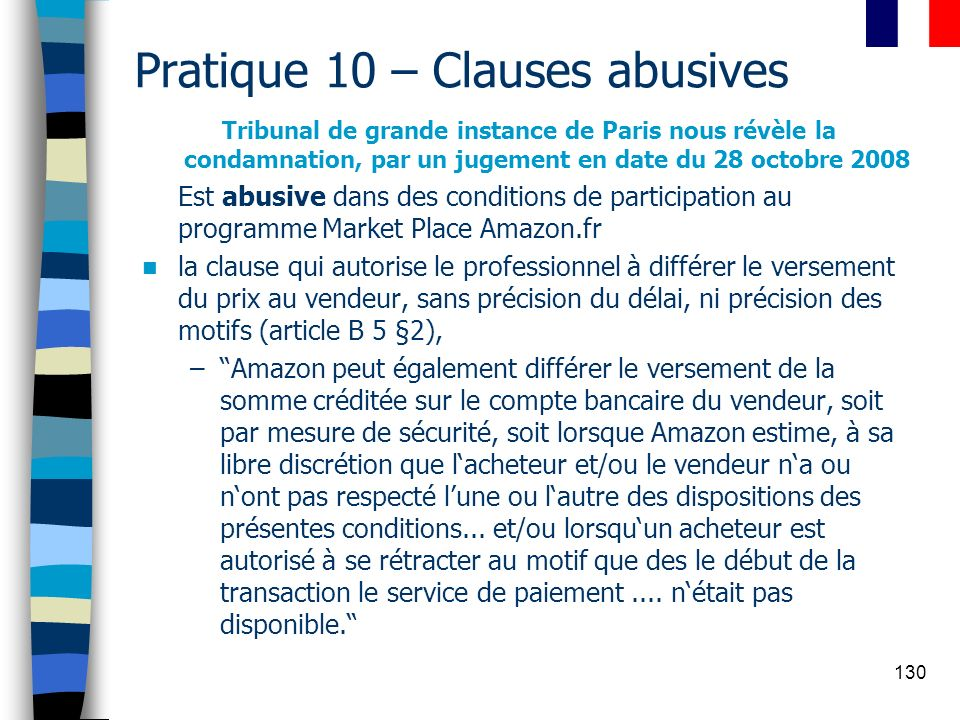 Pratique 10 – Clauses abusives
