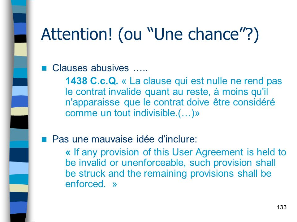 Attention! (ou Une chance )