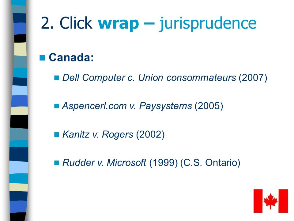 2. Click wrap – jurisprudence