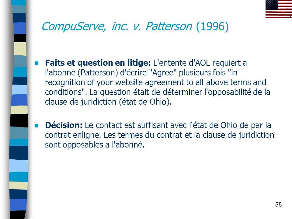 CompuServe, inc. v. Patterson (1996)