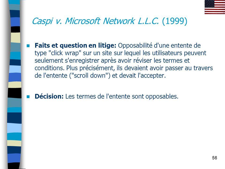 Caspi v. Microsoft Network L.L.C. (1999)