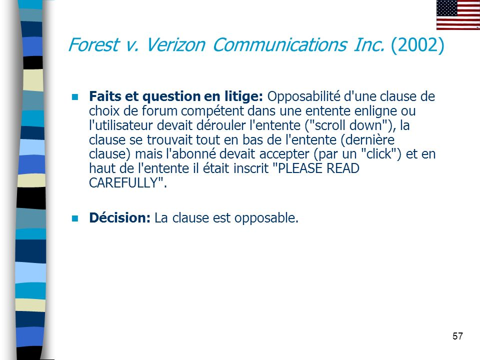 Forest v. Verizon Communications Inc. (2002)