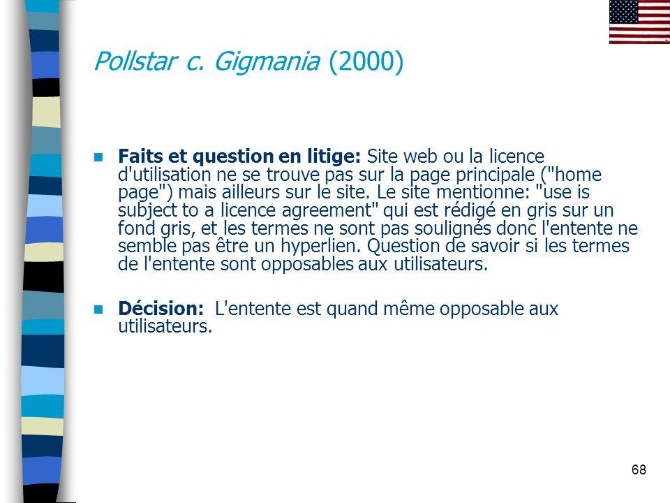 Pollstar c. Gigmania (2000)