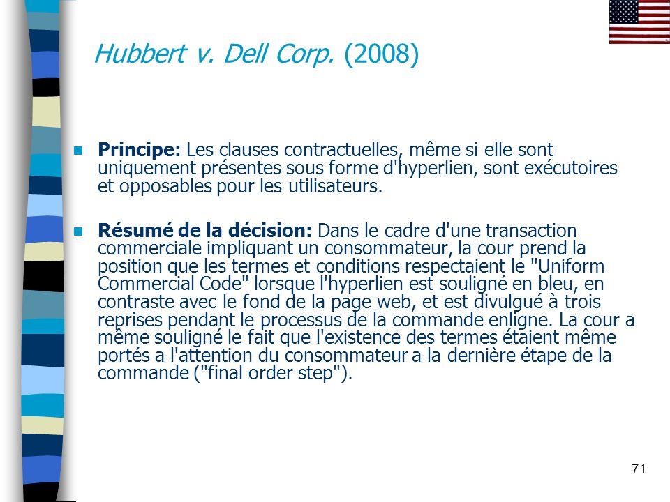 Hubbert v. Dell Corp. (2008)