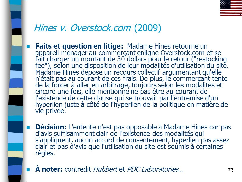 Hines v. Overstock.com (2009)