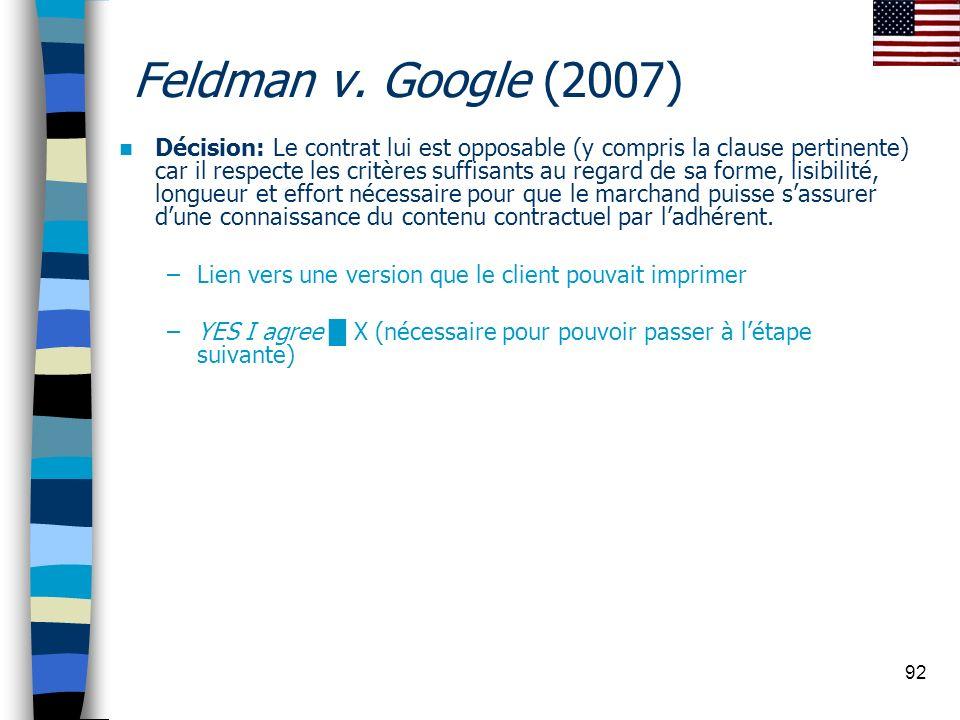 Feldman v. Google (2007)