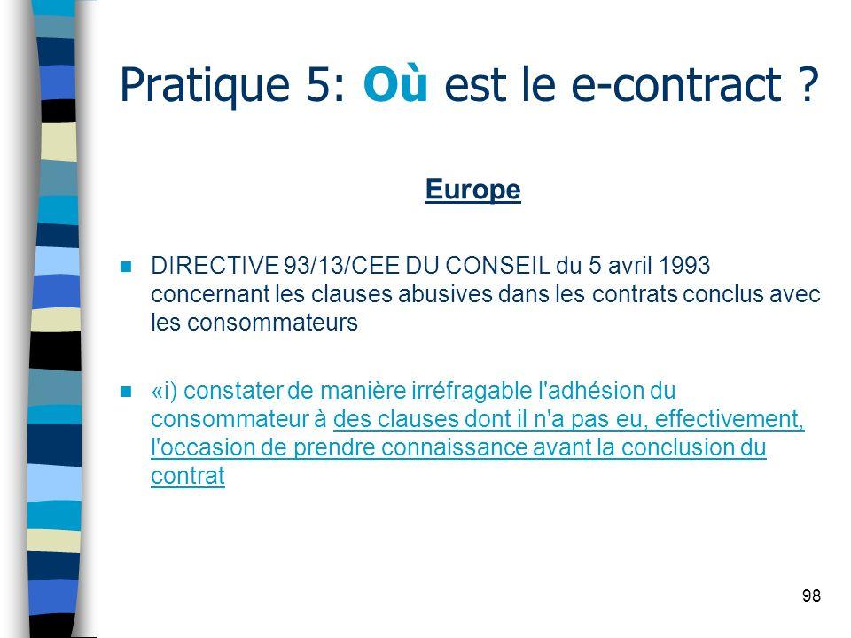 Pratique 5: Où est le e-contract