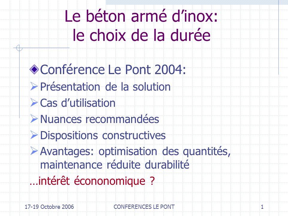 Le béton armé d'inox: le choix de la durée