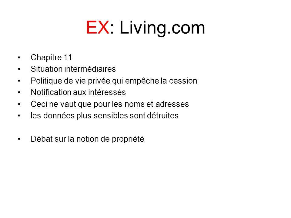 EX: Living.com Chapitre 11 Situation intermédiaires
