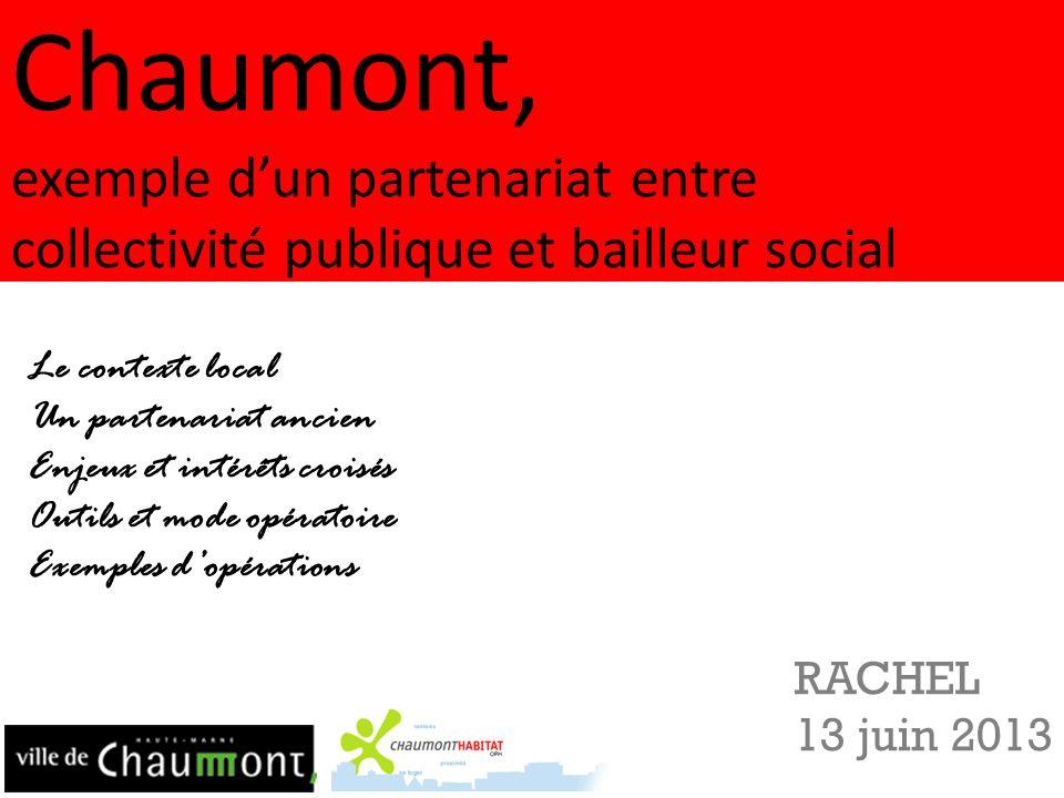 Chaumont, exemple d'un partenariat entre collectivité publique et bailleur social
