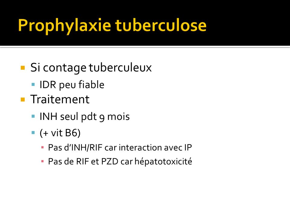 Prophylaxie tuberculose