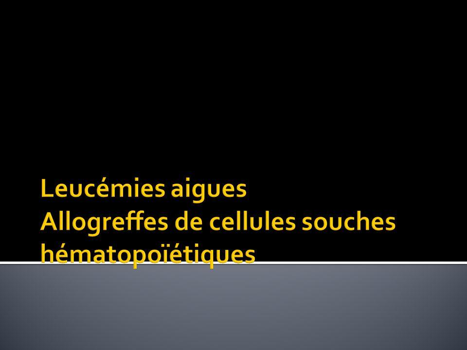Leucémies aigues Allogreffes de cellules souches hématopoïétiques