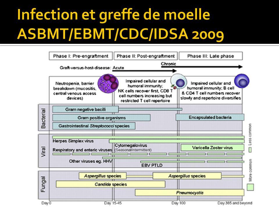 Infection et greffe de moelle ASBMT/EBMT/CDC/IDSA 2009