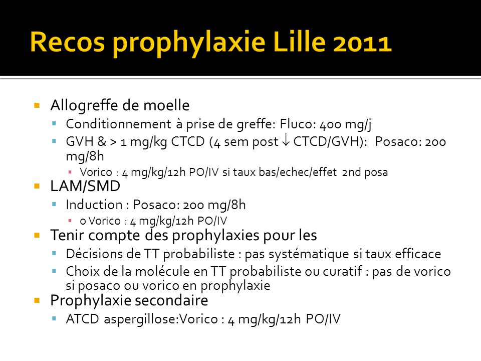 Recos prophylaxie Lille 2011