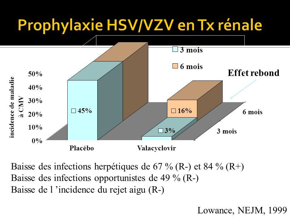 Prophylaxie HSV/VZV en Tx rénale