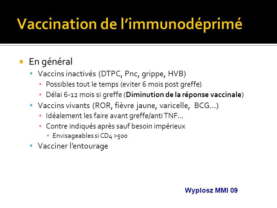 Vaccination de l'immunodéprimé