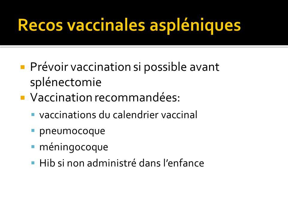 Recos vaccinales aspléniques