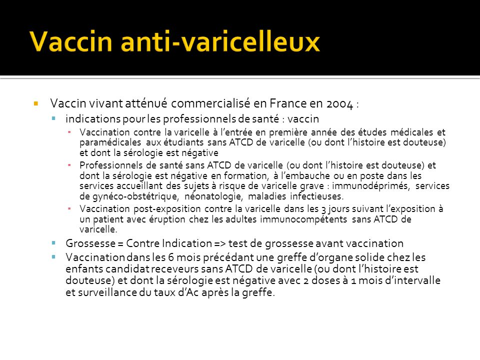 Vaccin anti-varicelleux